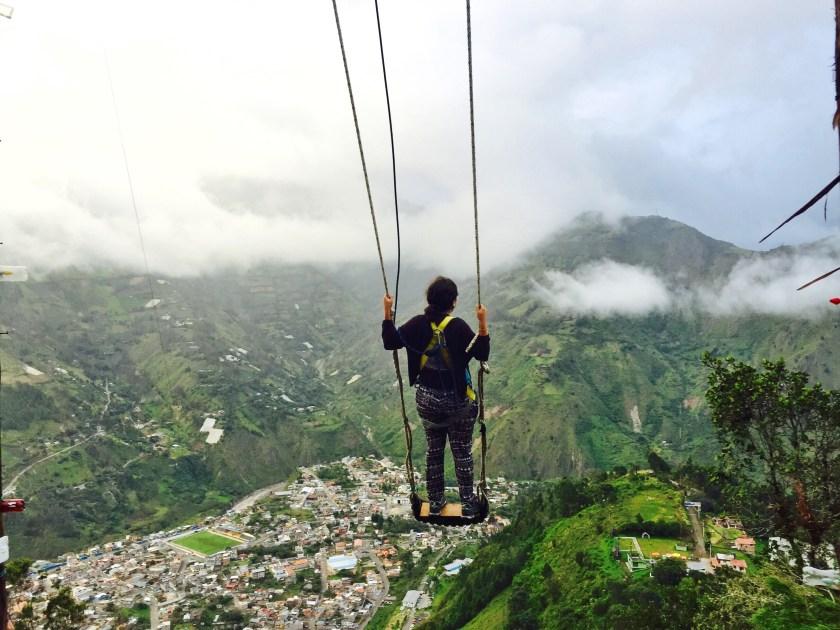 Banos ecuador, banos swing, ecuador travel blog
