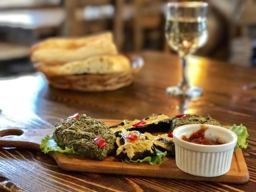 Georgia food, Georgian cuisine, badrijani nigvzit, Georgia visa rejection