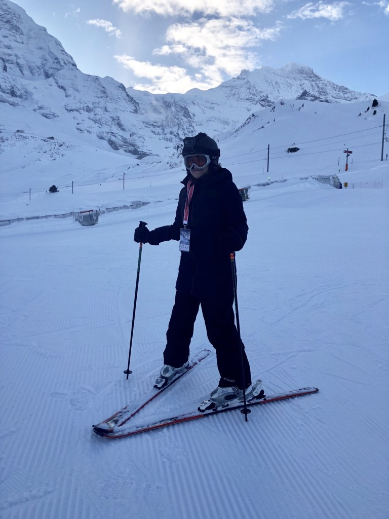 ski school switzerland, first time ski switzerland, shivya nath