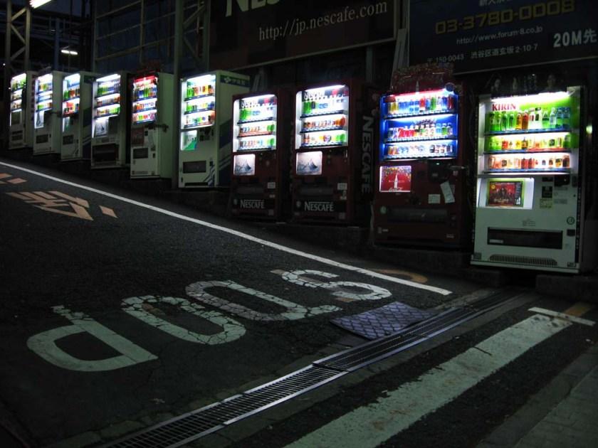 Japan vending machines, quirky japan, why visit japan