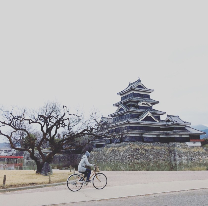 matsumoto castle, cycling japan, Japanese people