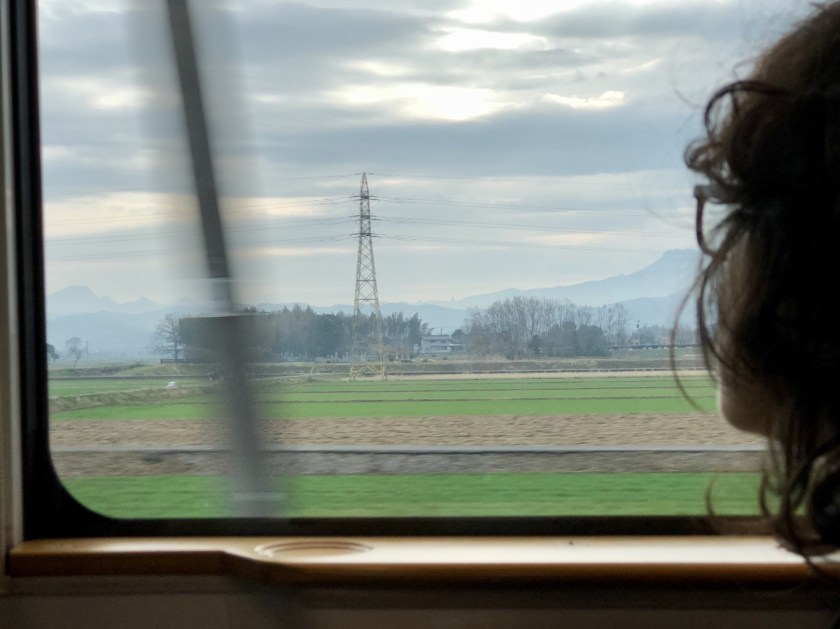 Japanese countryside, shinkansen photos