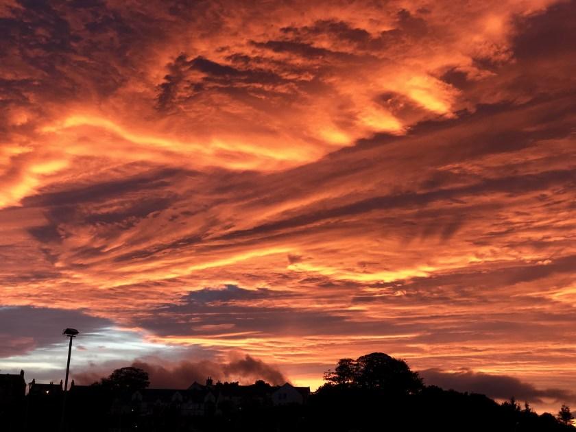 sunset scotland, stonehaven scotland
