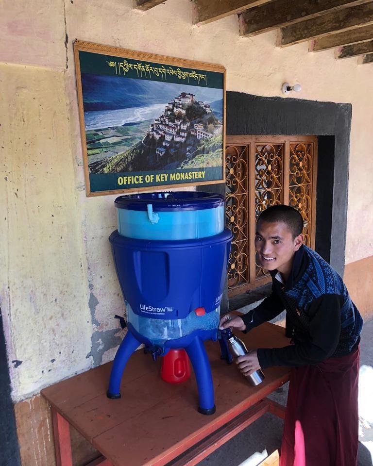 Spiti drinking water, spiti plastic bottles campaign, i love spiti, spiti responsible travel, kee monastery