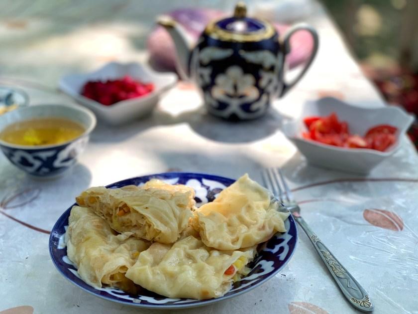 uzbekistan food, uzbekistan vegan food, khanum uzbekistan