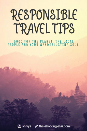 responsible travel tips, sustainable tourism