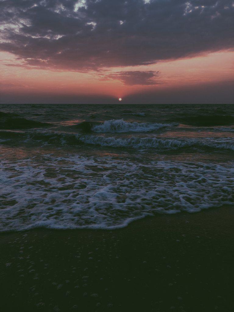 arabian sea sunset, north kerala, kerala sunset