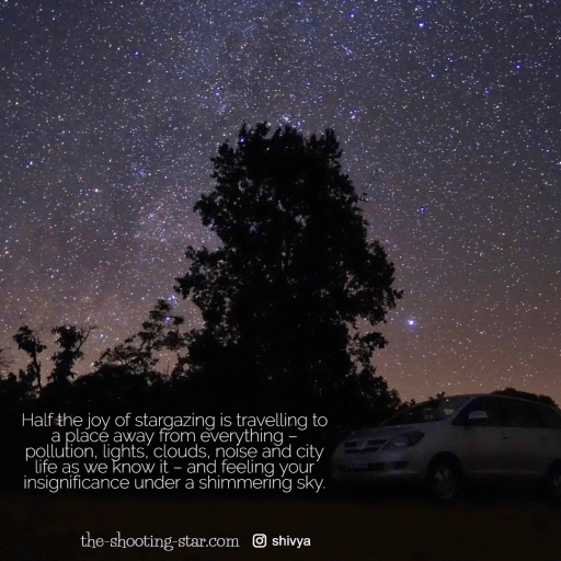 stargazing in india, meteor showers india