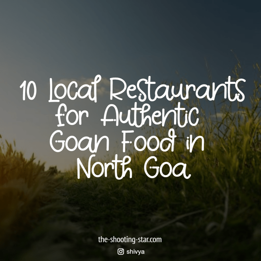 best goan food in north goa, authentic goan food in north goa