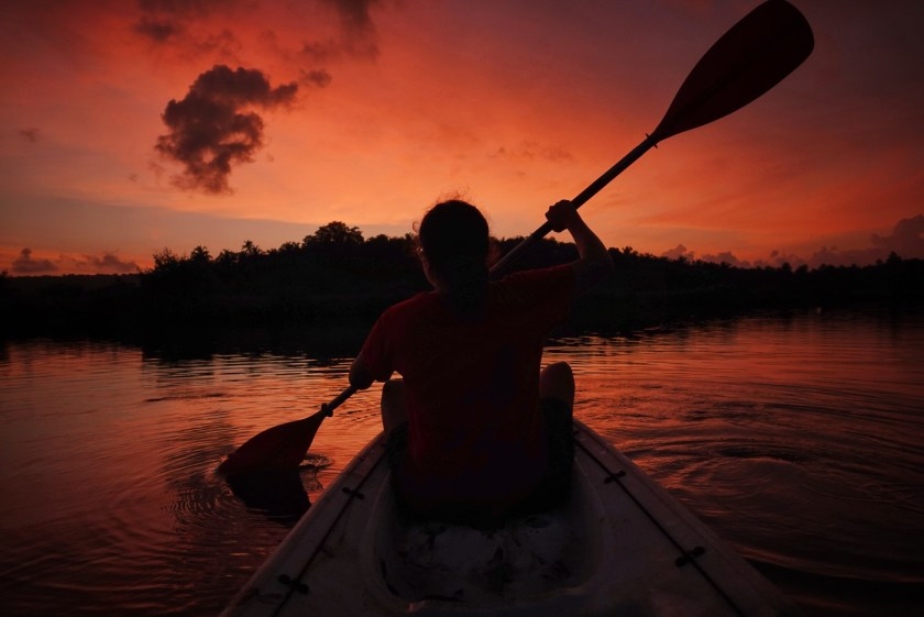 long-term travel, goa kayaking
