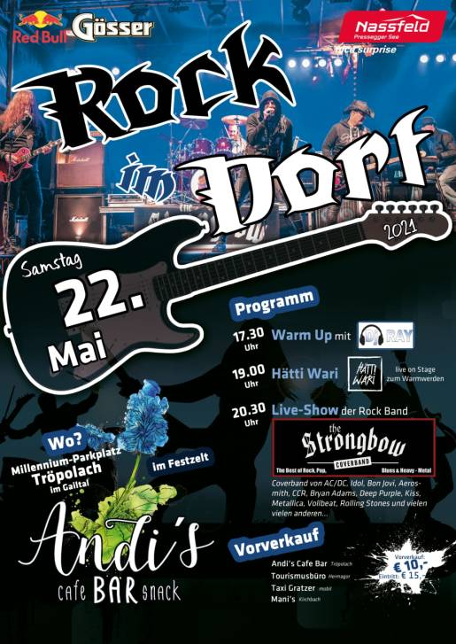 Plakat - Rock im Dorf 2 - The Strongbow Rockband