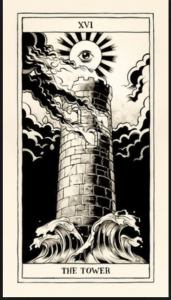 XIV  Falling Tower – Complete and Sudden Change – The tarot