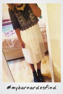 white dress polaroid