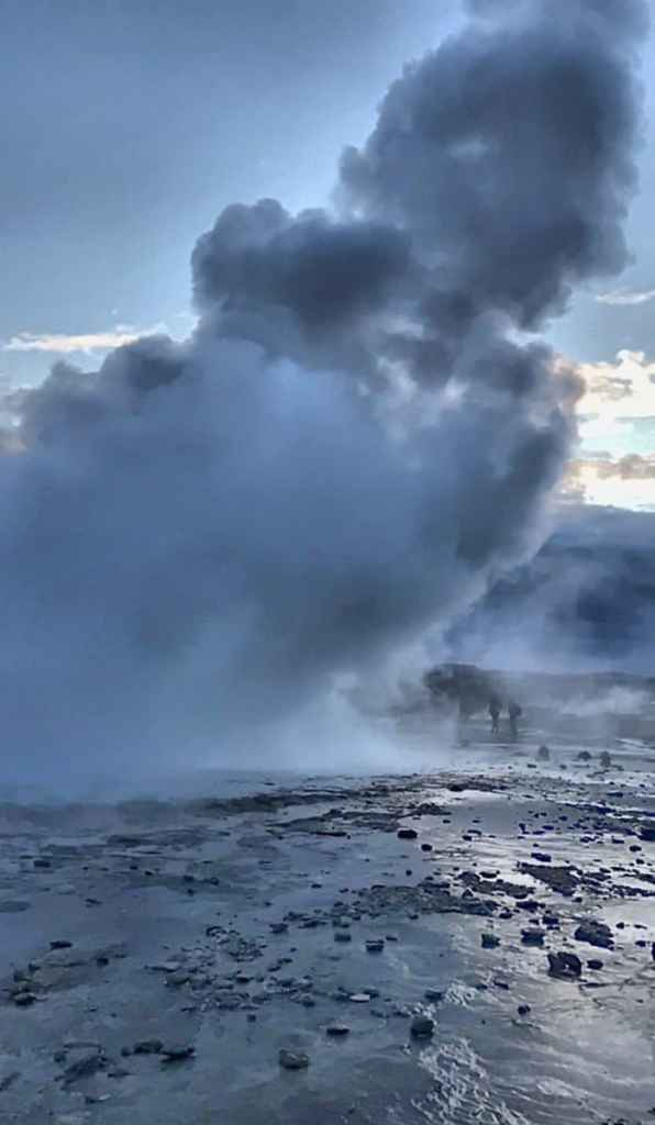 geyser  - geothermal area located on the ring road