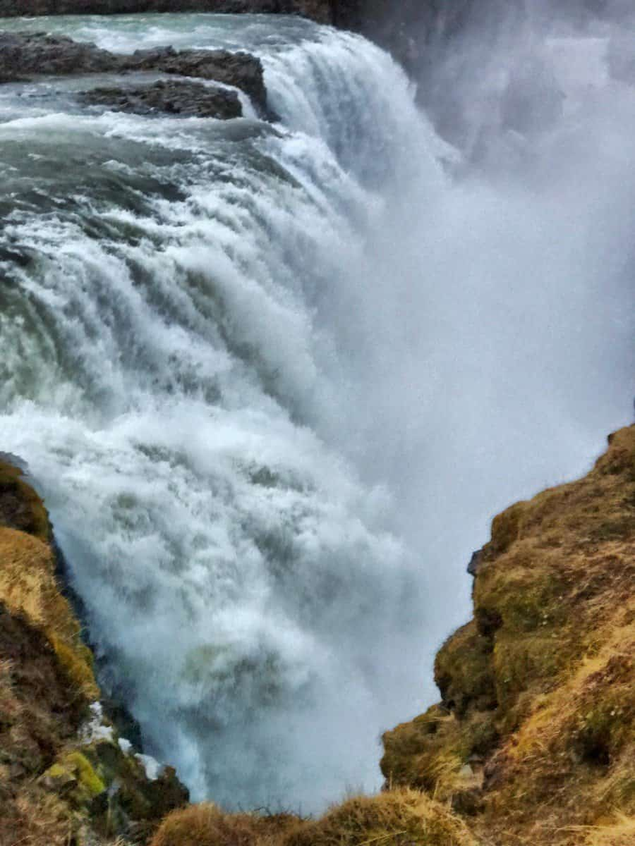 biggest waterfall in iceland Gullfoss waterfall - iceland facts for children