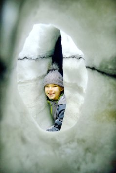 Perlan is it worth the visit ? - zoe inside ice cave