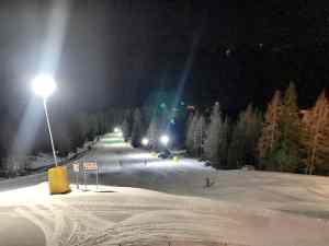 Col Verde night skiing during winter holiday in San Martino