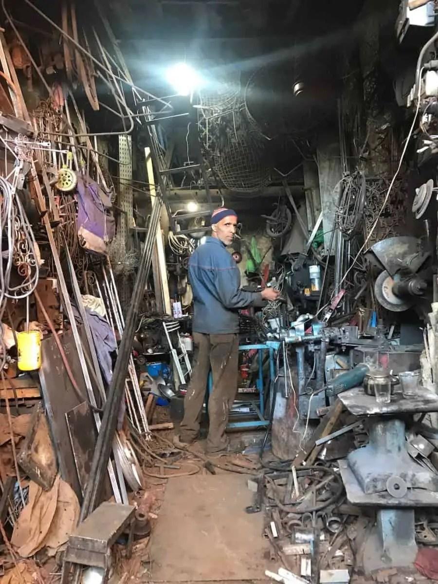 Marrakech souk - metal workshop