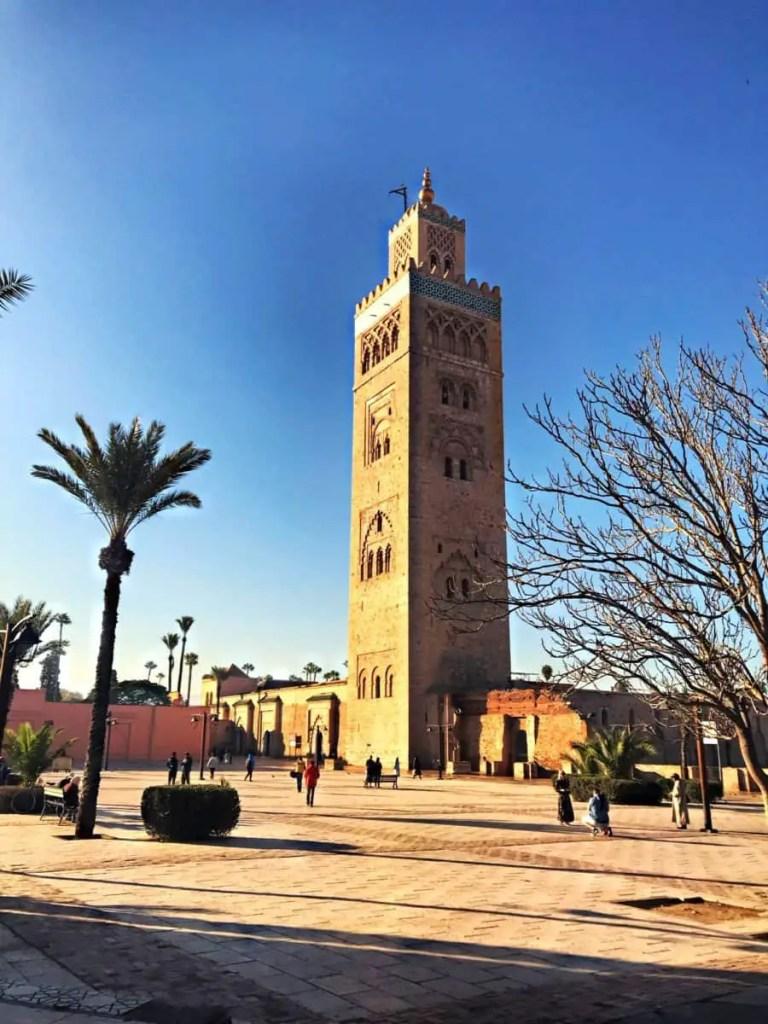 marrakech with kids - Koutoubia Mosque, meczet kutubijja głowna atrakcja Marakeszu