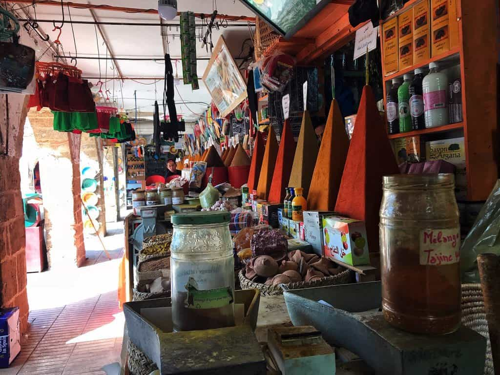 things to do in essaouira - buy spices on spice market