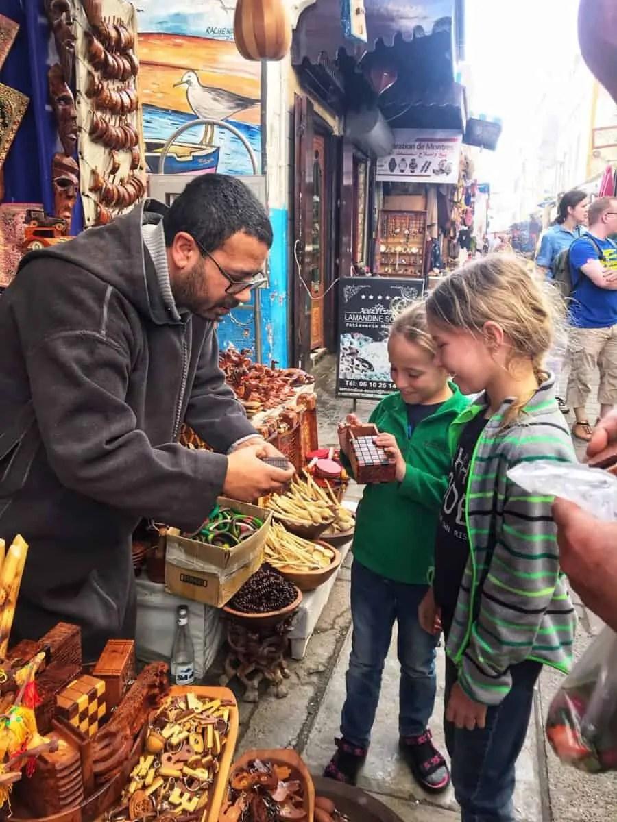 things to do in essaouira - shopping for souvenirs in Essaouira