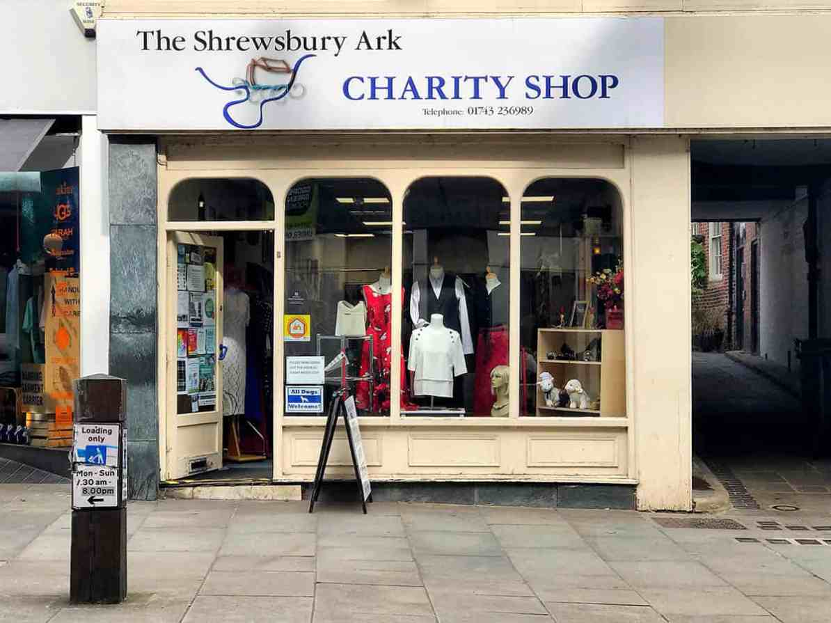 the ark shrewsbury, charity shops shrewsbury,,