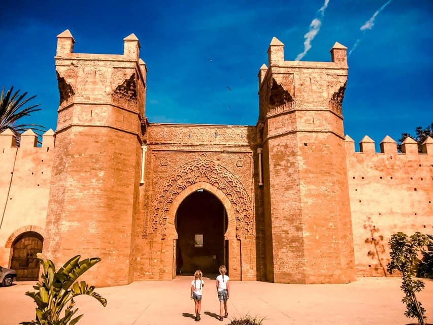 things to do in Rabat - visit Chellah site - on picture main gate