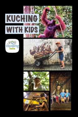 things to do in Kuching with kids or whitout. Visit orangutan, see longnose monkeys, visit famouse cat museum - Kuching with kids #thingstodoinkuching, #borneo #malaysia #kuching #kuchingwithkids