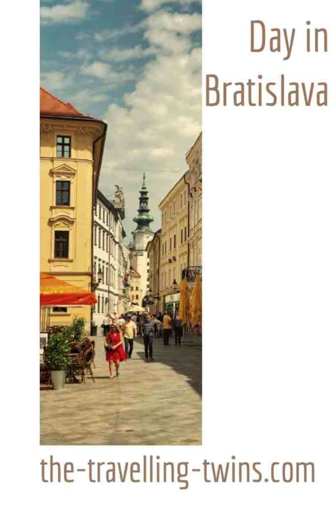 Bratislava stands on the Danube river near the borders of Hungary and Austria.  It is set on a striking site with the castle overlooking the town and the great river. The city is perfectly compact for a one day visit as well as those looking for a weekend getaway.