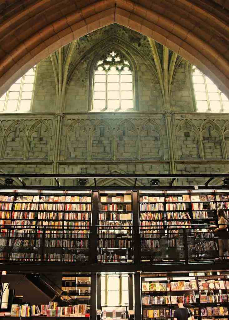 most beautiful bookshop in Europe with there are miles of books