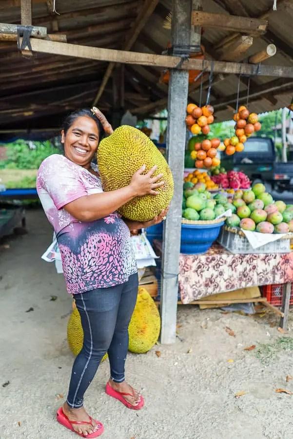 one big jackfruit
