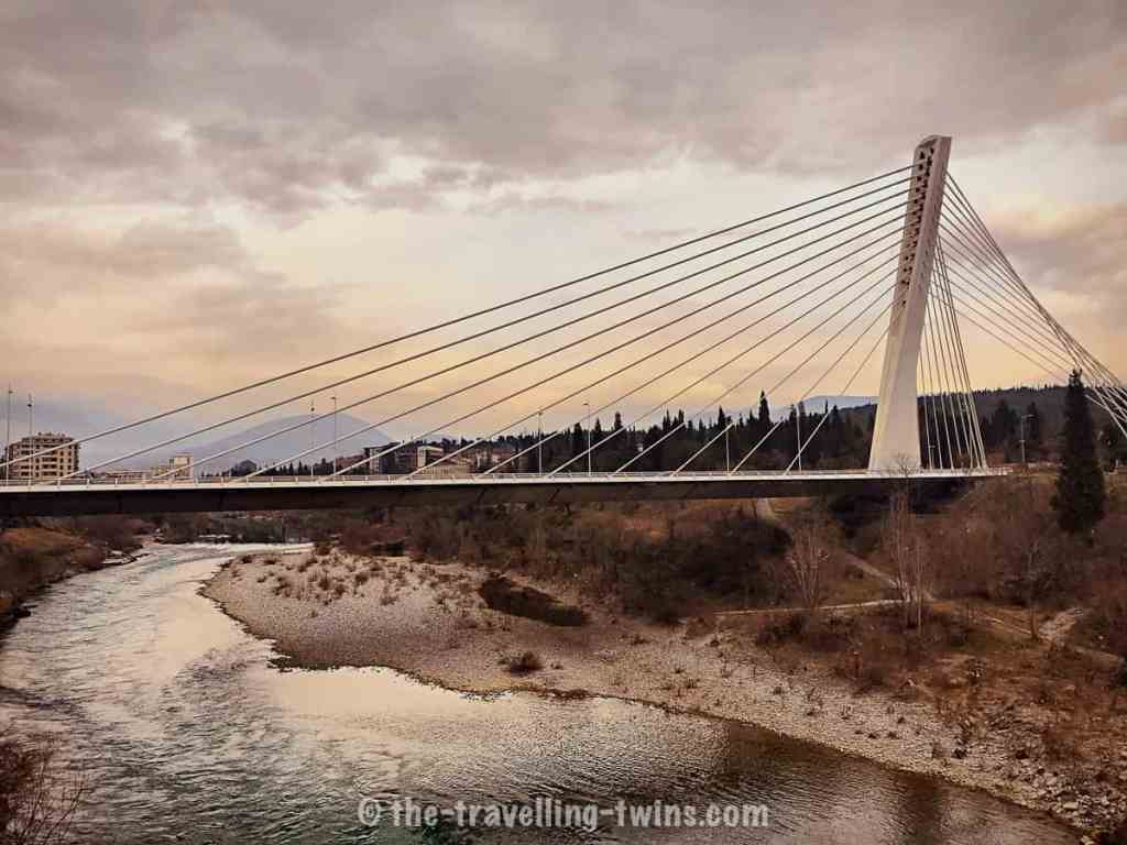 city center- things to do in Podgorica Montenegro - Millennium Bridge- Podgorica - day trips