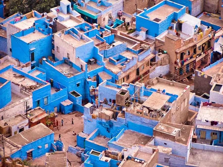 Dżodhpur (Jodhpur) niebieski miasto Indii