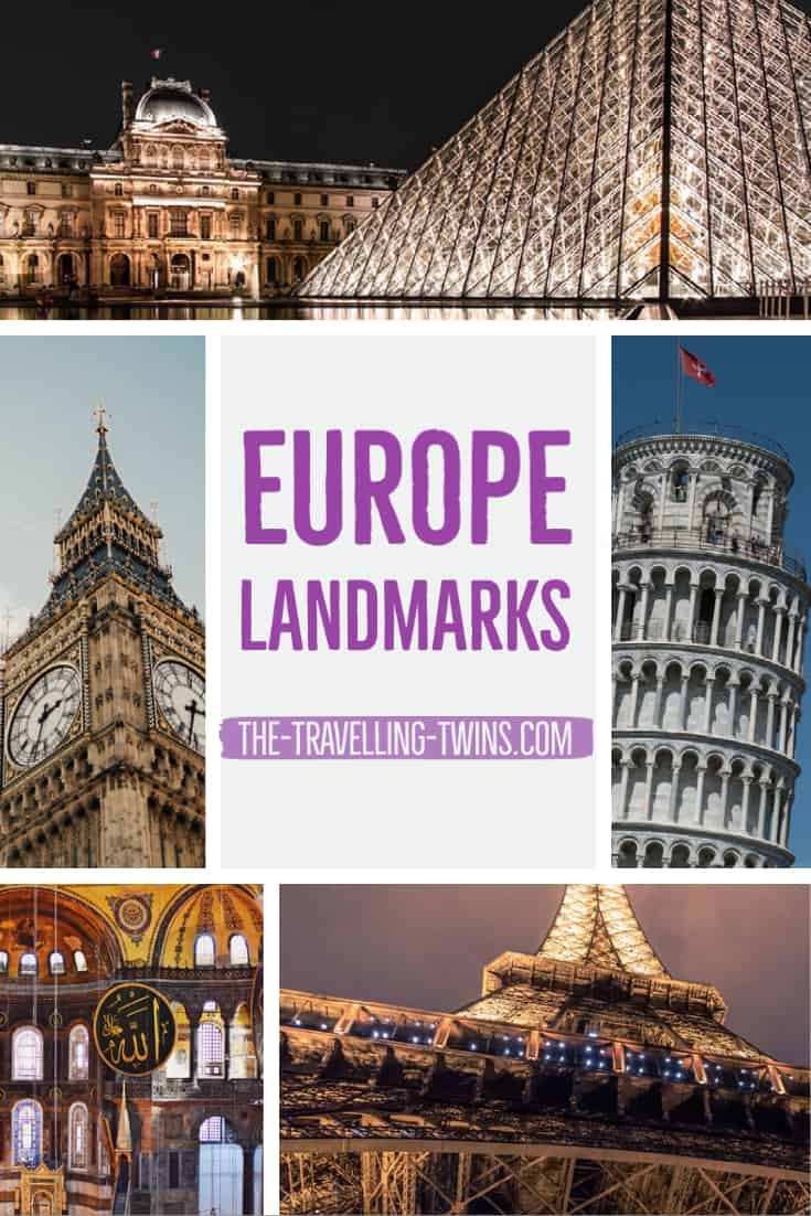 the most iconic landmarks in Europe that you simply must see at least once in your life. Eiffel Tower in Paris. Colosseum in Rome. The Louvre in Paris. The Sistine Chapel in Vatican City. Leaning Tower of Pisa in Italy. Acropolis & Parthenon in Greece. Mosque-Cathedral of Cordoba in Spain