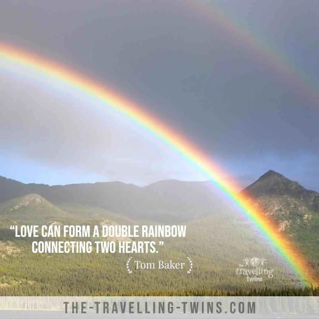 Double rainbow quotes