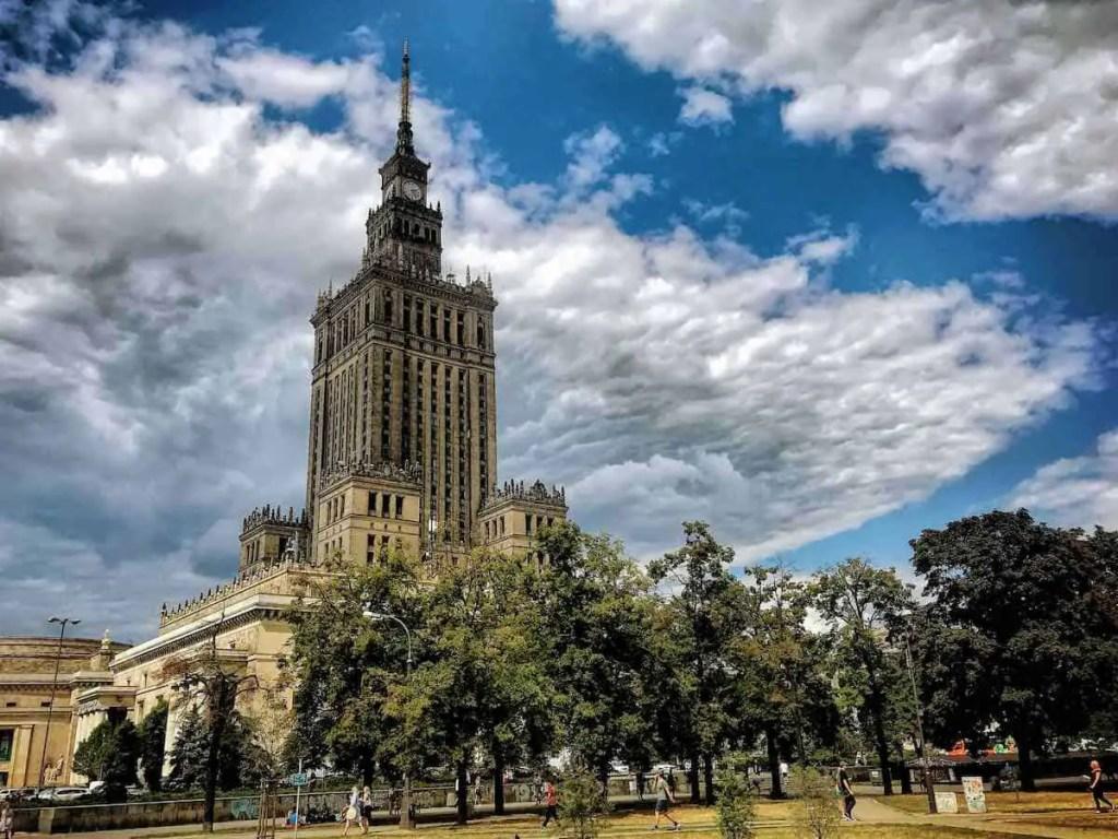 PKiN Warsaw -poland's capital
