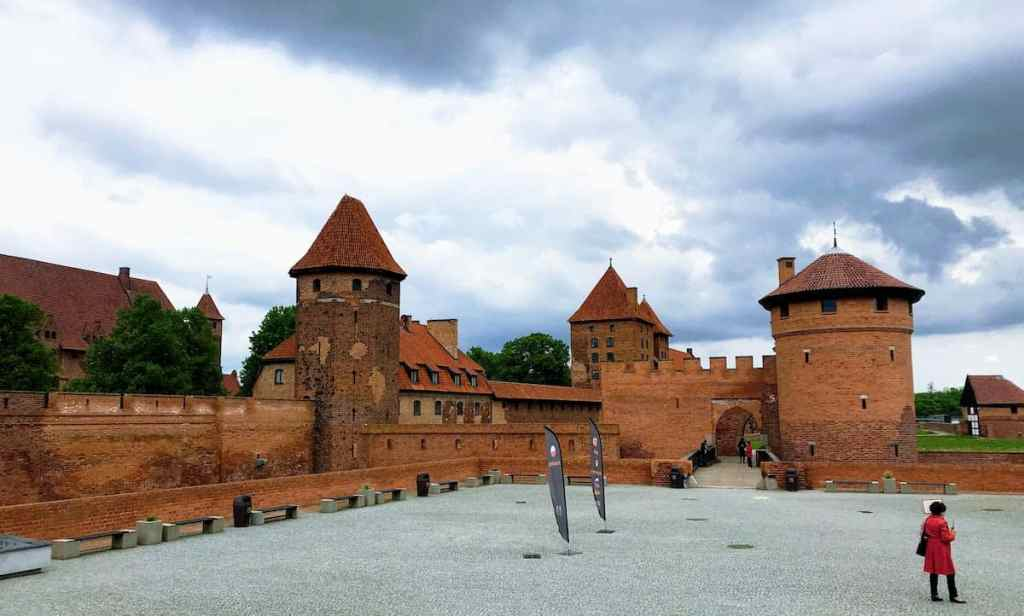 Knights of Teutonic order castle in Malbork