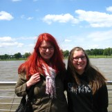 Saskia and I with the Rhine in the background