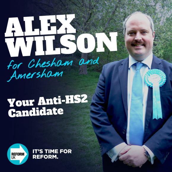Alex Wilson - Reform UK campaign poster
