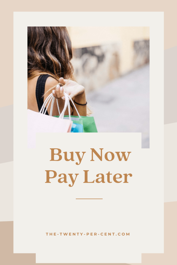 Buy Now Pay Later pinterest pin - woman with