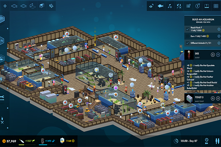 Megaquarium In Game Screenshot