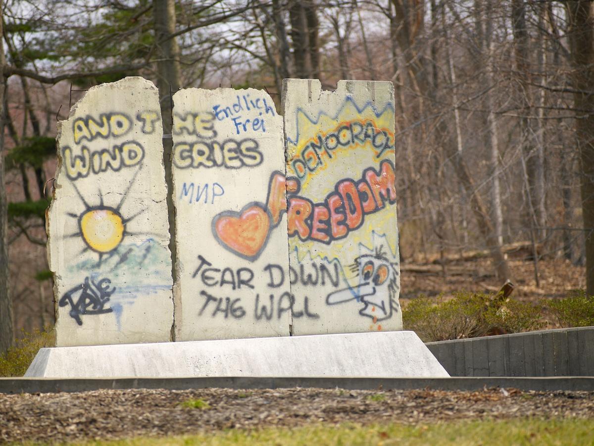 Berliner Mauer in Langley