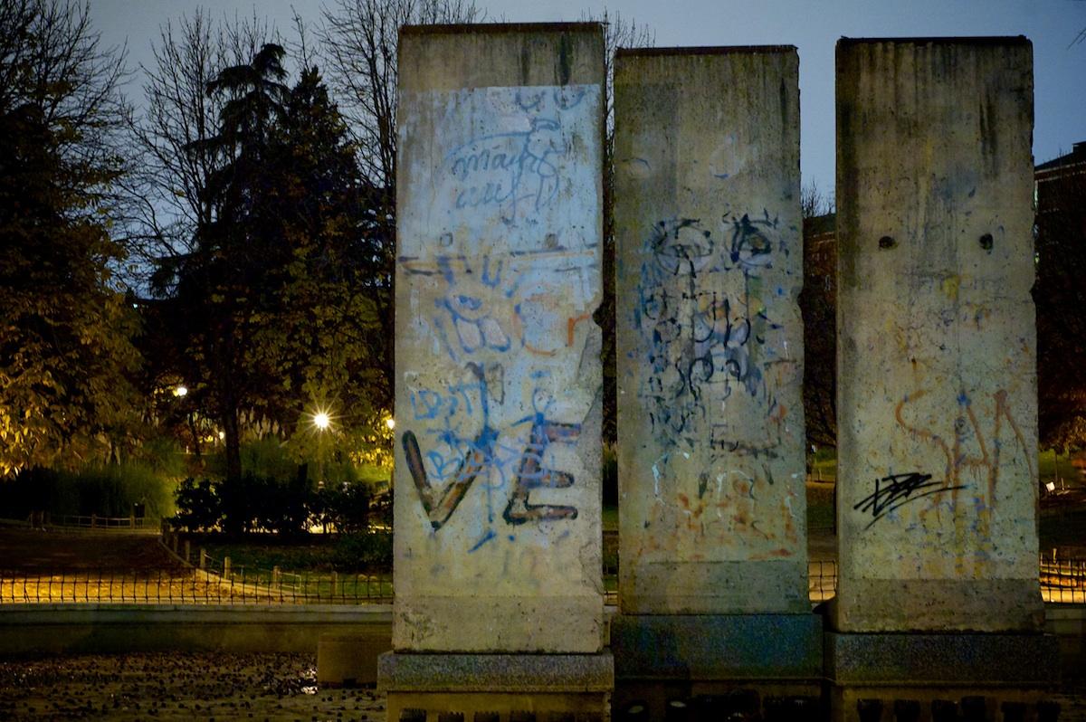 Berliner Mauer in Madrid