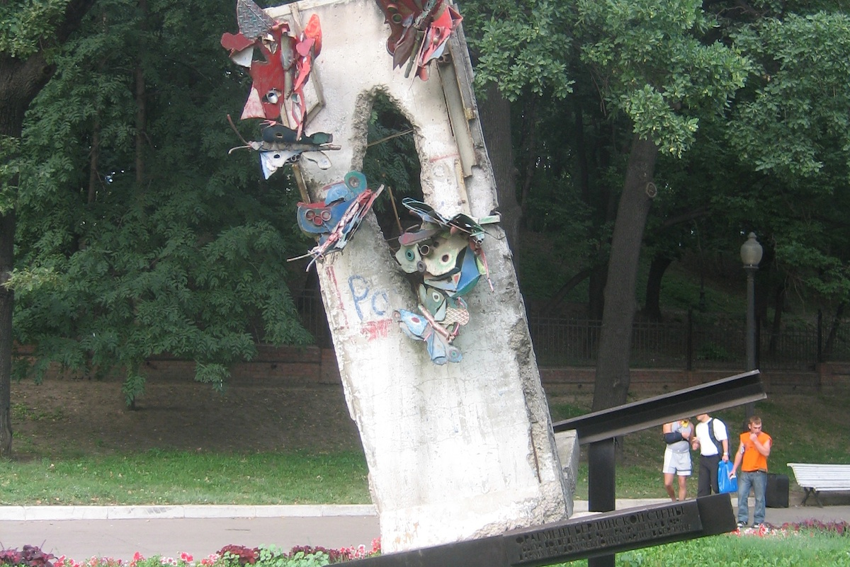 Berliner Mauer in Moskau