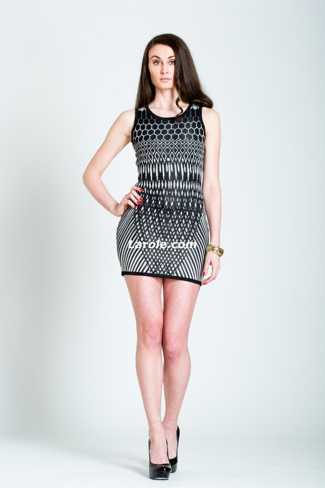 New York City fashion brand-Larole curve illusion dress