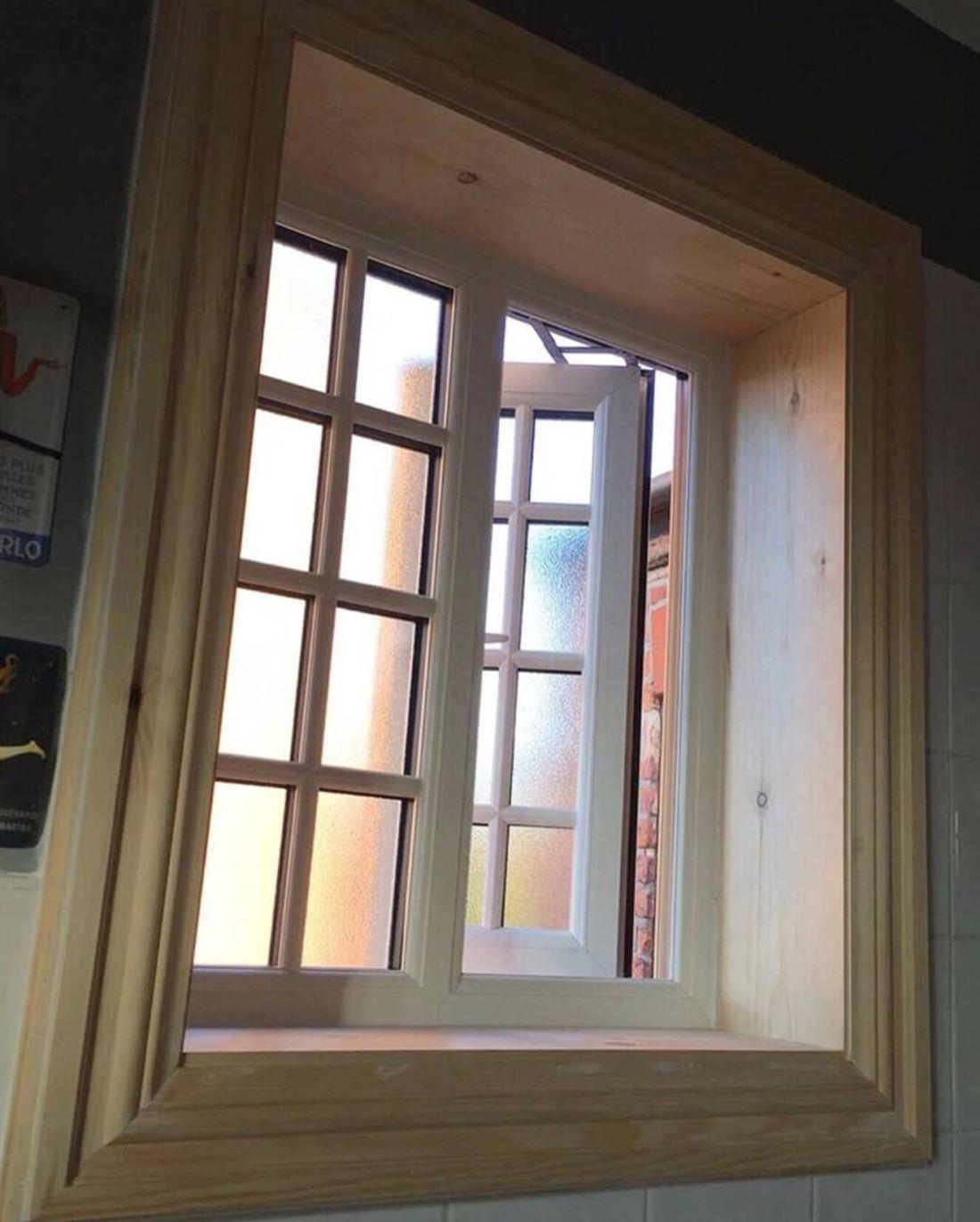 Georgian style window with full timber internal boxing