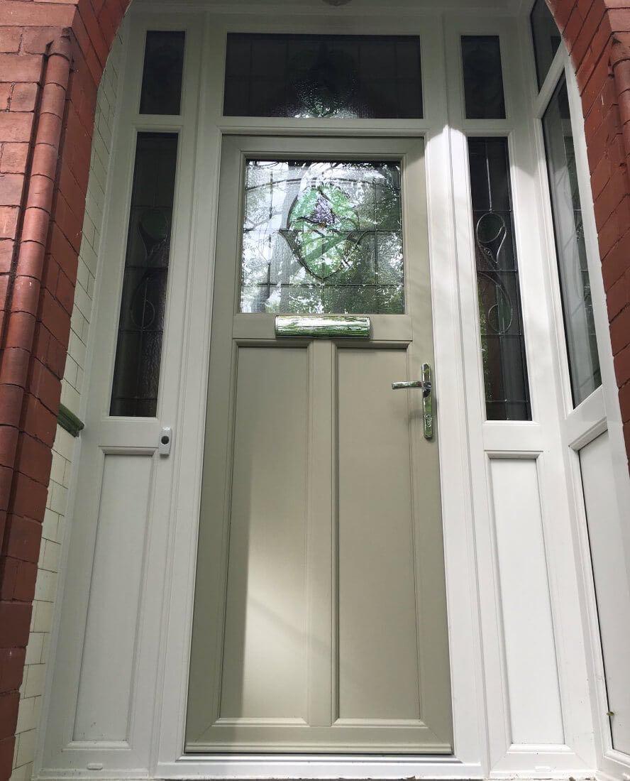 Green UPVC Door