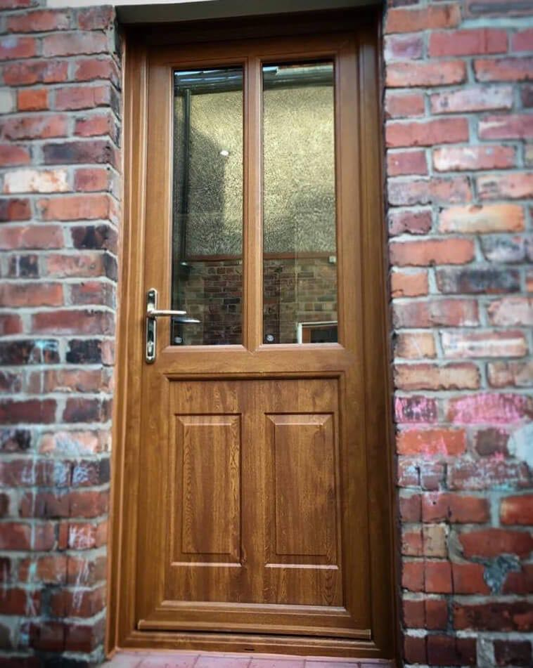 Light Oak UPVC Door