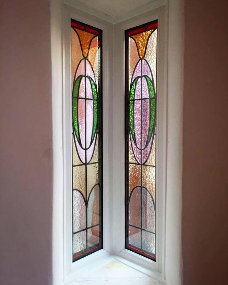 stained glass inglenook window