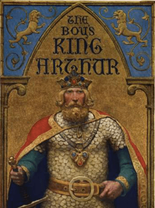 An Illustration by N.C. Wyeth (used as the title page for The Boy's King Arthur 1917)
